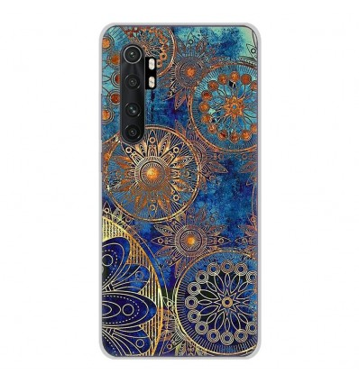 Coque en silicone Xiaomi Mi Note 10 lite - Mandalla bleu