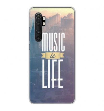 Coque en silicone pour Xiaomi Mi Note 10 lite - Music is life
