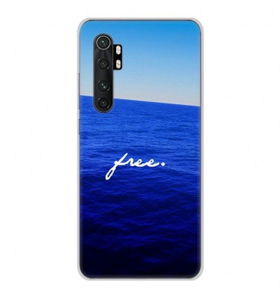 Coque en silicone Xiaomi Mi Note 10 lite - Océan free