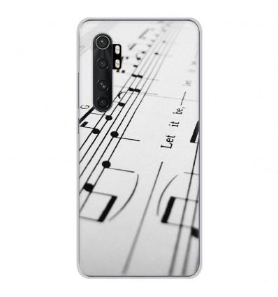 Coque en silicone Xiaomi Mi Note 10 lite - Partition de musique