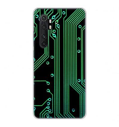 Coque en silicone pour Xiaomi Mi Note 10 lite - Texture circuit geek