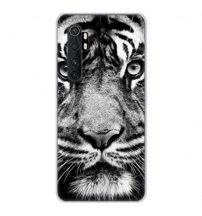 Coque en silicone pour Xiaomi Mi Note 10 lite - Tigre blanc et noir