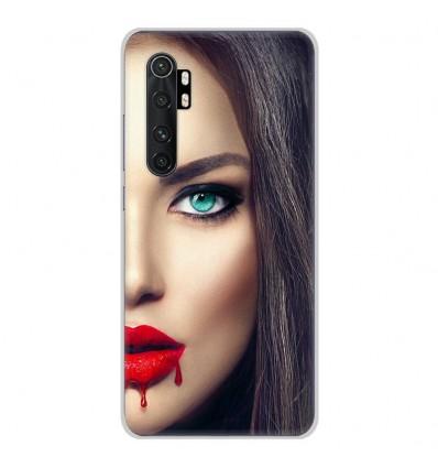 Coque en silicone pour Xiaomi Mi Note 10 lite - Lèvres Sang
