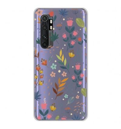 Coque en silicone Xiaomi Mi Note 10 lite - Fleurs colorées
