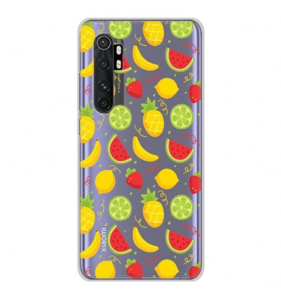 Coque en silicone Xiaomi Mi Note 10 lite - Fruits tropicaux