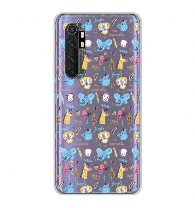 Coque en silicone Xiaomi Mi Note 10 lite - Happy animals