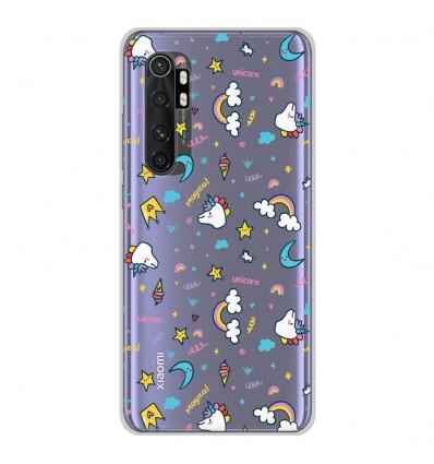 Coque en silicone pour Xiaomi Mi Note 10 lite - Licorne rainbow