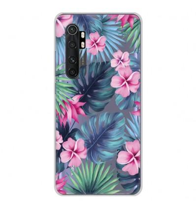Coque en silicone Xiaomi Mi Note 10 lite - Tropical Aquarelle