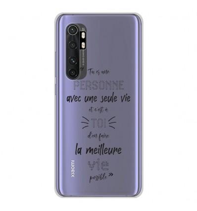 Coque en silicone Xiaomi Mi Note 10 lite - Une Seule Vie