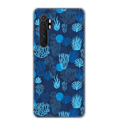Coque en silicone Xiaomi Mi Note 10 lite - Corail bleu