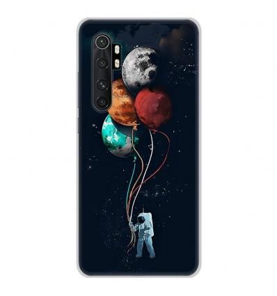 Coque en silicone Xiaomi Mi Note 10 lite - Cosmonaute aux Ballons