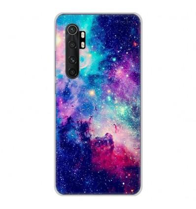 Coque en silicone Xiaomi Mi Note 10 lite - Galaxie Bleue