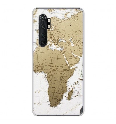 Coque en silicone Xiaomi Mi Note 10 lite - Map Europe Afrique