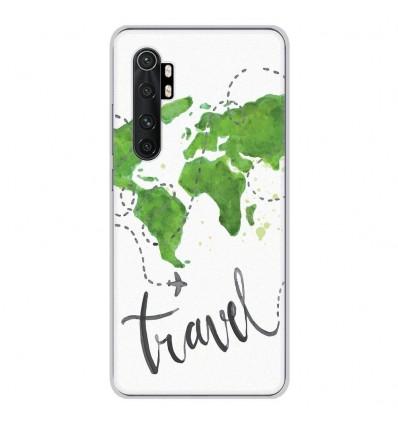 Coque en silicone Xiaomi Mi Note 10 lite - Map Travel