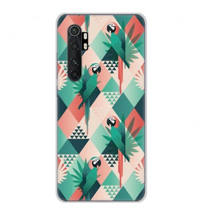 Coque en silicone Xiaomi Mi Note 10 lite - Perroquet géométrique