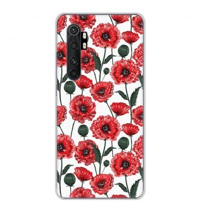 Coque en silicone Xiaomi Mi Note 10 lite - Fleurs de Pavot