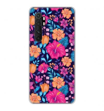 Coque en silicone Xiaomi Mi Note 10 lite - Fleurs Exotiques