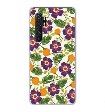 Coque en silicone Xiaomi Mi Note 10 lite - Fleurs Violettes