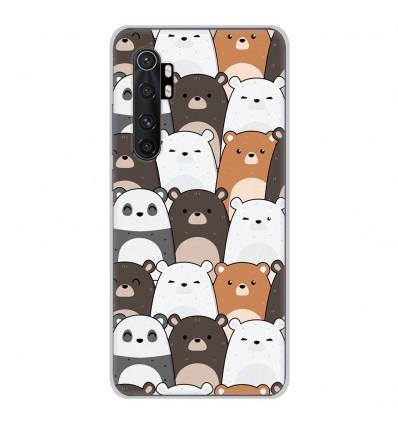 Coque en silicone pour Xiaomi Mi Note 10 lite - Réunion de Nounours