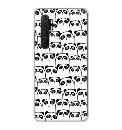 Coque en silicone Xiaomi Mi Note 10 lite - Réunion de Pandas