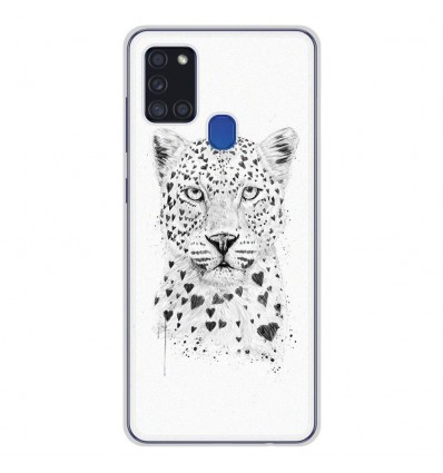 Coque en silicone pour Samsung Galaxy A21S - BS Love leopard