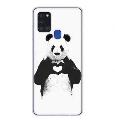 Coque en silicone pour Samsung Galaxy A21S - BS Love Panda