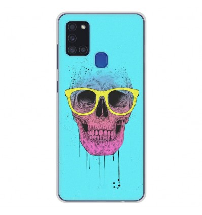 Coque en silicone Samsung Galaxy A21S - BS Skull glasses