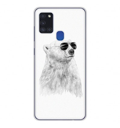 Coque en silicone pour Samsung Galaxy A21S - BS Sunny bear