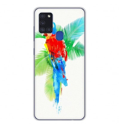 Coque en silicone Samsung Galaxy A21S - RF Tropical party