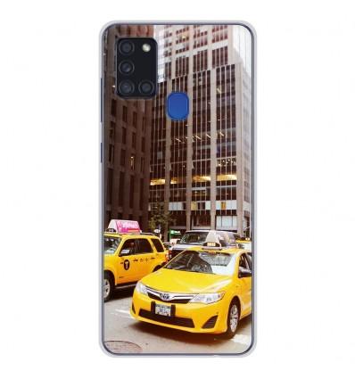 Coque en silicone pour Samsung Galaxy A21S - NY Taxi