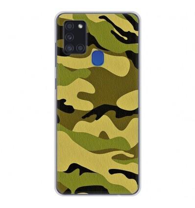 Coque en silicone pour Samsung Galaxy A21S - Camouflage