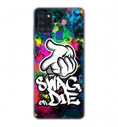 Coque en silicone Samsung Galaxy A21S - Swag or die