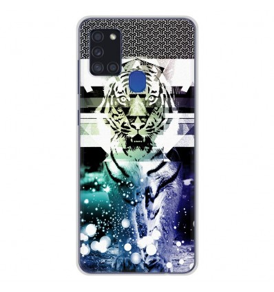 Coque en silicone Samsung Galaxy A21S - Tigre swag