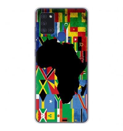 Coque en silicone Samsung Galaxy A21S - Drapeau Afrique