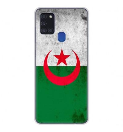 Coque en silicone Samsung Galaxy A21S - Drapeau Algérie