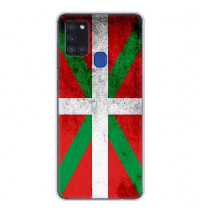 Coque en silicone Samsung Galaxy A21S - Drapeau Basque