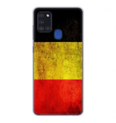 Coque en silicone Samsung Galaxy A21S - Drapeau Belgique