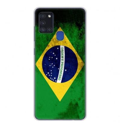 Coque en silicone Samsung Galaxy A21S - Drapeau Brésil