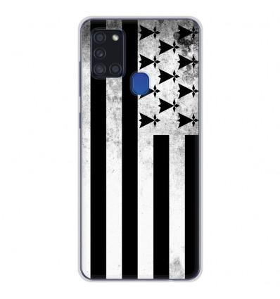 Coque en silicone Samsung Galaxy A21S - Drapeau Bretagne