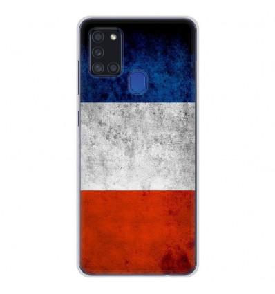 Coque en silicone Samsung Galaxy A21S - Drapeau France