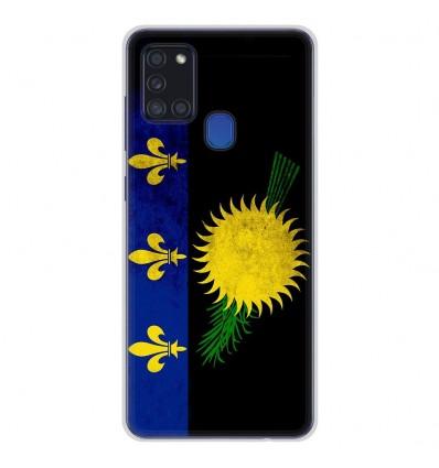 Coque en silicone Samsung Galaxy A21S - Drapeau Guadeloupe
