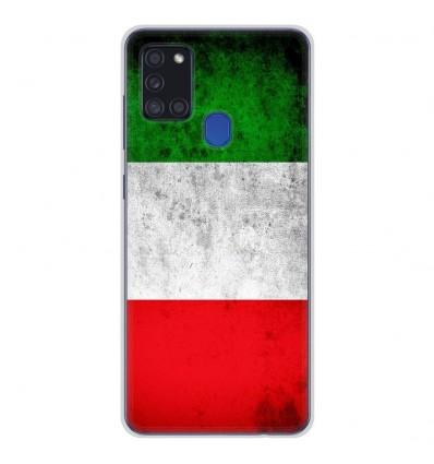 Coque en silicone pour Samsung Galaxy A21S - Drapeau Italie