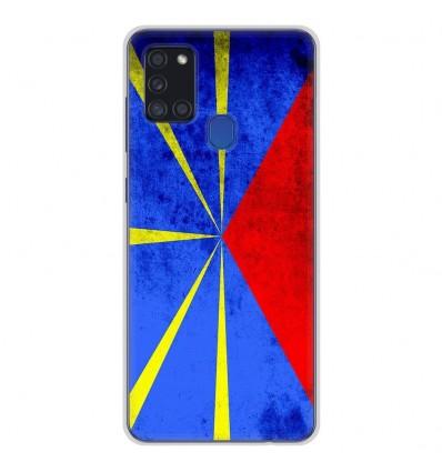 Coque en silicone pour Samsung Galaxy A21S - Drapeau La Réunion