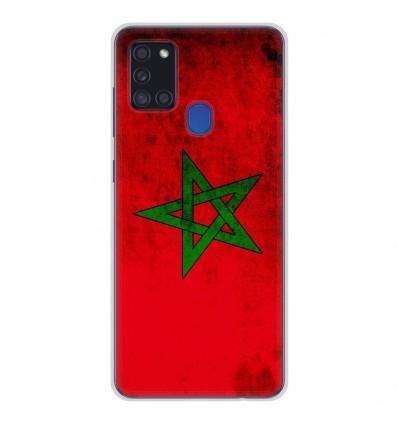 Coque en silicone Samsung Galaxy A21S - Drapeau Maroc