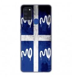 Coque en silicone Samsung Galaxy A21S - Drapeau Martinique