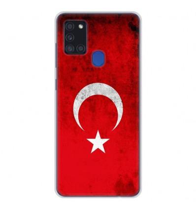 Coque en silicone pour Samsung Galaxy A21S - Drapeau Turquie