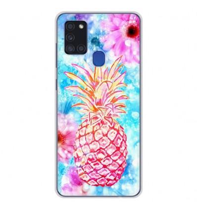 Coque en silicone Samsung Galaxy A21S - Ananas