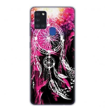 Coque en silicone Samsung Galaxy A21S - Dreamcatcher Rose