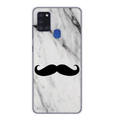 Coque en silicone Samsung Galaxy A21S - Hipster Moustache