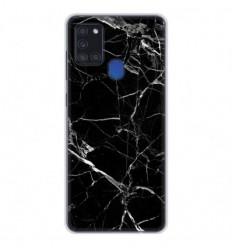 Coque en silicone Samsung Galaxy A21S - Marbre Noir